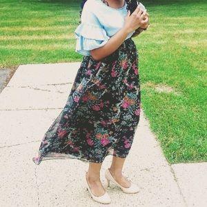 Stephanie Queller Floral Skirt